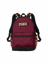 VICTORIA'S SECRET PINK CAMPUS BACKPACK BAG GYM SCHOOL FULL SIZE DEEP RUBY BLING