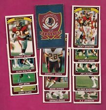 13 X 1990 PANINI REDSKINS  STICKERS CARD (INV# A4984)