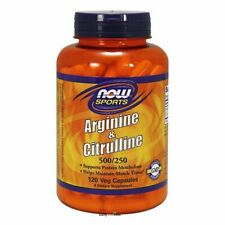 Now Foods Arginine & Citrulline 120 Veg Capsules Made in USA FREE SHIPPING