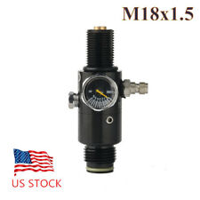 Paintball 4500psi High Pressure Air Tank Regulator Valve 800Psi Output M18x1.5