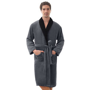 Mens Robe -Bathrobe Coral Fleece Robe --Thick-VERY SOFT - **SALE** USA Seller !!