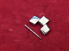 BAUME MERCIER SOLID STEEL HAMPTON BAND BRACELET 19MM LINK DIAGONO TYPE