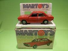 MARTOYS  1:24  - AUDI 80 GT   0106  - IN ORGINAL  BOX   - GOOD  CONDITION
