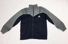 Adidas felpa tuta vintage usato uomo donna giacca jacket sport blu unisex T2348