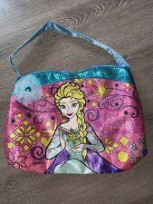 Preowned GUC Girls Kids Elsa Purse Shiny Shimmery Disney Princess Snowflake Bag