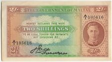 More details for 1942 malta george vi 2 shilling  | bank note | pennies2pounds