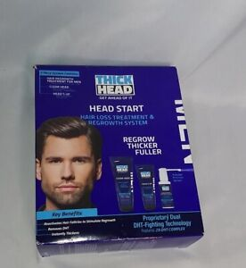 Thick Head Head Start Hair Loss Treatment & Regrowth System 3 pc Kit Exp 11/2020