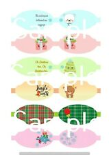 Christmas  hair bow making fabric cut out template bows canvas printed