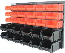 Wandregal mit 30 Boxen Werkstattregal Stapelbox Lagerregal Werkstatt Lager Box