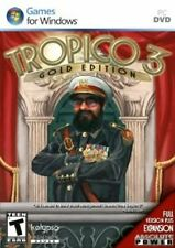 TROPICO 3 GOLD with Absolute Power Expansion  Win 7 Vista XP   NEW   PC Strategy