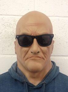 Realistico Uomo Maschera Vecchio Maschile Disguise Halloween Costume Bruiser IN