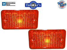 1970 Chevelle Parking Turn Light Lamp Lenses AMBER Pair With Gaskets