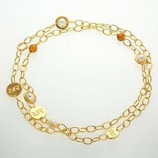 New Rebecca Citrine Bead & Cultured Pearl Bright Elemental Necklace