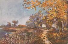 Postcard Artist Signed E Baehre Serie 1058 Fall Scene ca1907-20