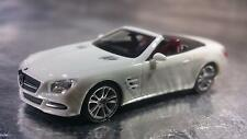 * Herpa 024839 Mercedes-Benz SL-Klasse Cabrio with Roof Zirrus White 1:87 Scale