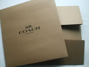 New 1 Brown CoachPresents Gifts Box Case Boxes For Wallets Clothing Handbag Toys