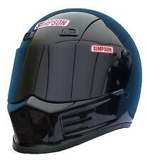 SIMPSON STREET BANDIT HELMET SNELL M2015 GLOSS BLACK M MEDIUM 58cm 7 1/4