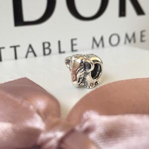 PANDORA Sterling Silver Lucky Elephant 791130 Moments Charm NEW in Pouch GENUINE