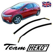 DHO17143 Honda Civic mk8 3 puerta 2006-2012 viento desviadores 2pc Heko Teñido