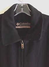 Columbia Wool Blend Zip Front Lined Coat Jacket Men's Size Medium