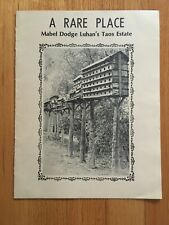 A Rare Place : Mabel Dodge Luhan's Taos Estate by Agnes Lufkin ~ Softcover 1980