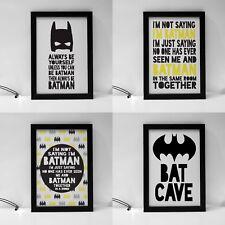 A4 Batman Wall Prints Nursery Wall Art Decor Prints Kids Superhero 12 options