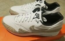 NIKE Air Max 1 G NRG Txt White/Grey Snakeskin 11.5 NEW Golf Shoes CI6876-101