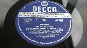 The Rolling Stones AFTERMATH 1966 UK Stereo UNBOXED DECCA  LP MINT HEAR