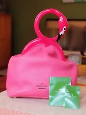 """KATE SPADE ♤ NEW YORK KISSING FLAMINGOS BAG """"STRUT YOUR STUFF"""" NWT HARD TO FIND"""
