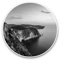 2 x Vinyl Stickers 10cm (bw) - Zakynthos Greek Island Sunset  #35802