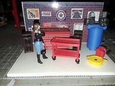 1:24 Scale Tool box, Air Compressor tool cart & Accessories Garage Diorama