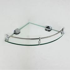 6mm Wall Mounted Toughened Glass Corner Shelf Bathroom SOAP DISH RACK Holder NEW