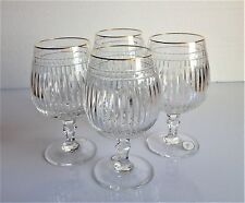 AJKA BRANDY SNIFTERS / GLASSES WITH GOLD TRIM, WATERFORD HANOVER STYLE, NEW