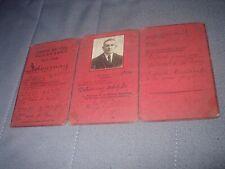 anc carte titulaire carte du feu 1914-1918 de Detournay du 14et16 iem reg ligne