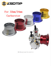 55MM Red Carburetor Horn Air Filter Motorbike Wind Cup For 32/34mm Interface 1PC