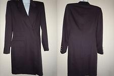 Escada Ex-Long Womens Business Suit Bazer Jacket Coat Size 6 (34) Maroon Wool