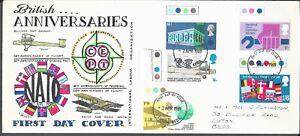GB LUTON FDC 24.4.1969 BRITISH ANNIVERSARIES