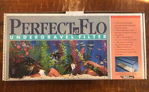 """Perfectaflo undergravel filter system aquarium 13x48  """"parts only"""""""