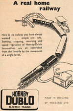 Meccano Hornby-Dublo - Electric Train Set Advert - Original 1952