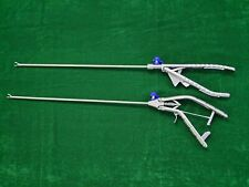 2pc Laparoscopic Needle Holder Gun Typeethicon Type Curvd Jaw Right Hand 5mmx33
