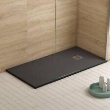 Slate Textured Finish Stone Resin Anti-Slip Shower Tray 1400 x 800 x 30mm Anthra