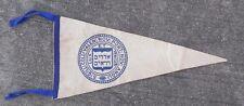 Vintage Felt Pennant  Sigill Yalen Yale Hebrew