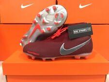 New Nike Junior Phantom Vsn Elite Df Fg Cleats Team Red/Dark Grey Size: 4 Youth