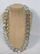 Beautiful Statement Round Clear Lucite  Pool Of Light necklace Vtg