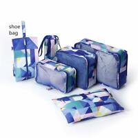 P.Travel 6 Set Packing Luggage Travel Bag Organizers with Shoe Bag