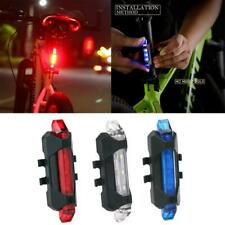 "Usb Rechargeable Led Bike Lights High Visibility ""Red Color Bicycle Tail Lights"""