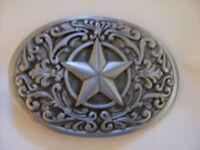 Western Star Metal Belt Buckle