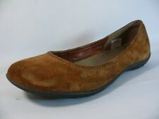 Women's Merrell Oak Shoes Size US7EUR37.5 Brown Suede Leather Loafers Flats L3