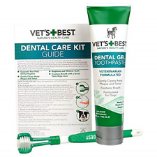 Vet�s Best Dog Toothbrush and Enzymatic Toothpaste Set | Teeth Cleaning and Kit
