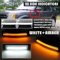 Dual Color LED Side Repeater Indicator Light For Land Rover Discovery Freelander